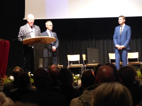 Richard Breuer hielt die Laudatio auf den neuen Ehrenamtsträger Marc Topp