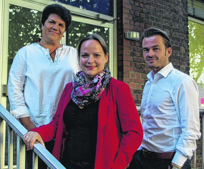 Sie wollen für die Städteregionale SPD bei der Bundestagswahl im nächsten Herbst antreten: Claudia Moll (l.), Janine Köster und Markus Conrads
