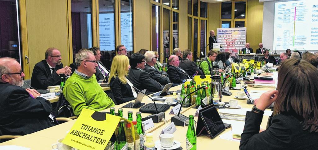 Sitzung ohne internen Streit: Parteiübergreifend haben sich die Fraktionen des Städteregionstages dazu entschlossen, alle Möglichkeiten auszuloten, damit die umstrittenen Meiler von Tihange und Doel vom Netz gehen.