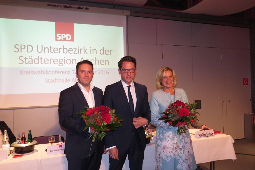 v.l. Stefan Kämmerling, UB-Vorsitzender Martin Peters, Eva-Maria Voigt-Küppers