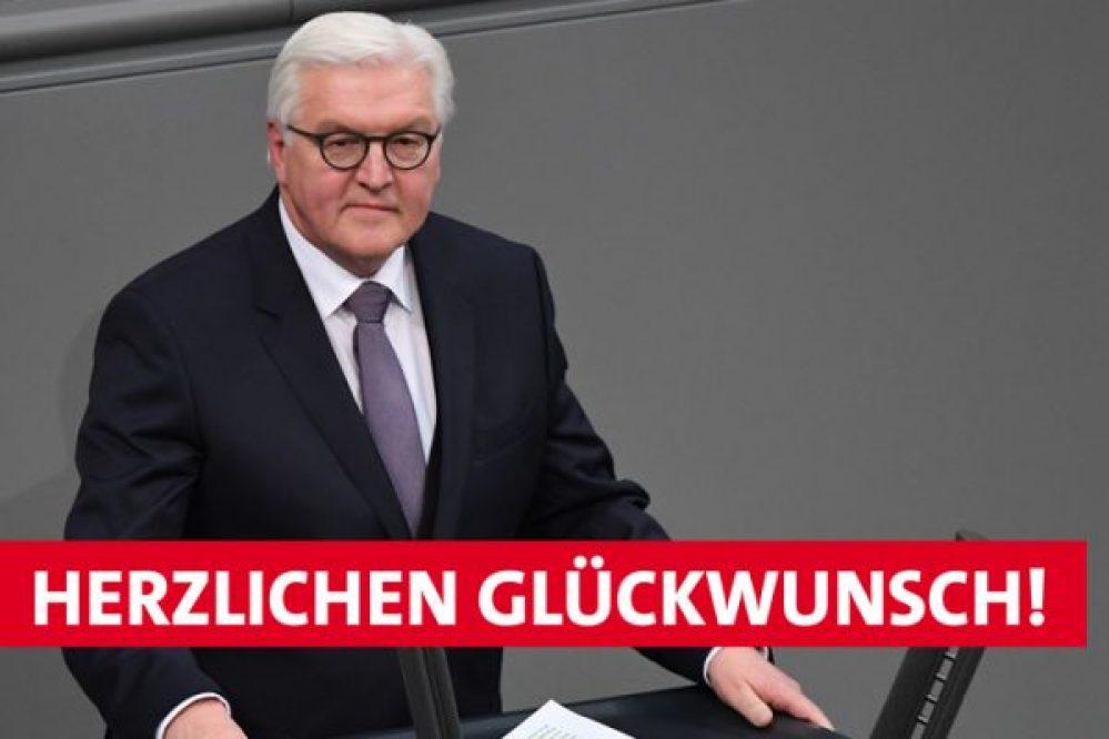 Wir gratulieren – Frank-Walter Steinmeier zum Bundespräsidenten gewählt