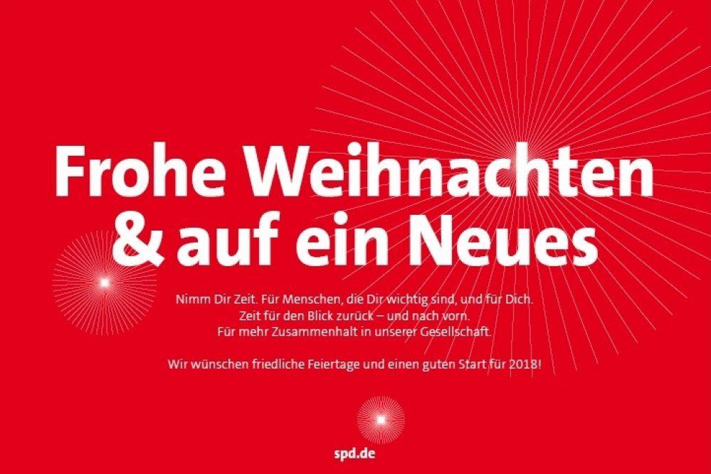 Frohe Weihnachten wünscht die SPD Simmerath