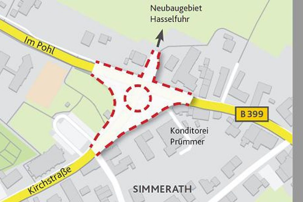 Kritischer Blick auf den Kreisverkehr